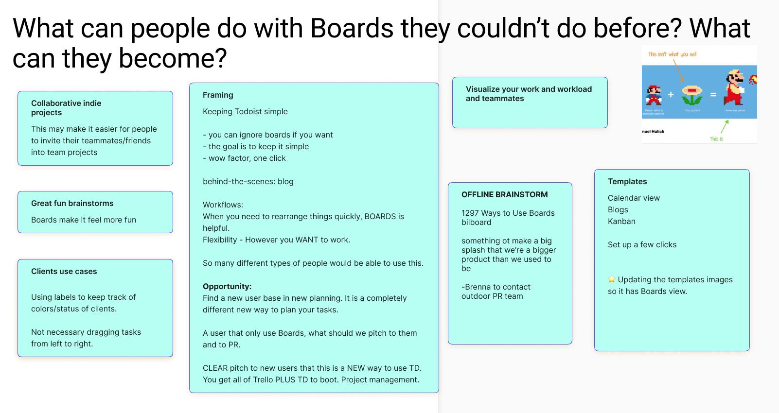 Screen grab of  Figma board